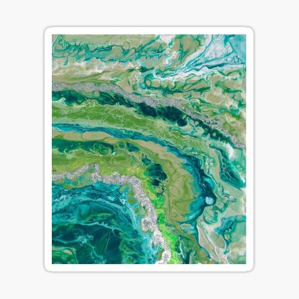 Green Geode Sticker