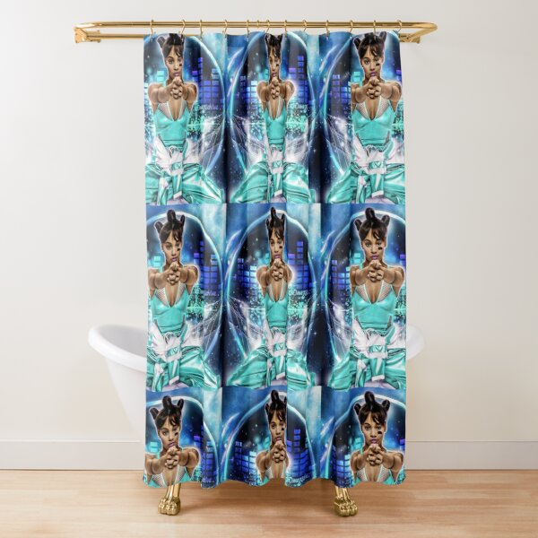 Lisa Lefteye Lopes (Pointing) Shower Curtain