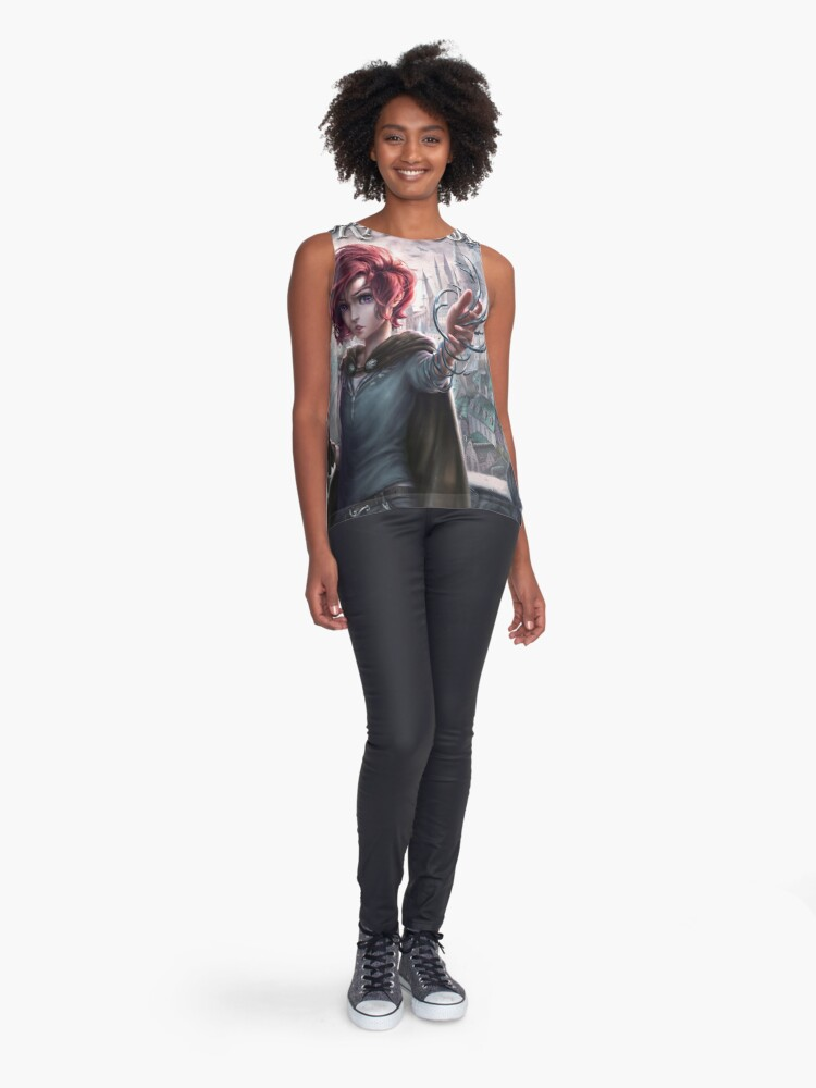 Alternate view of Draev Guardians art Sleeveless Top
