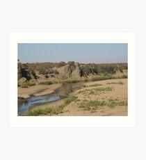 Letaba River View - Kruger National Park Art Print