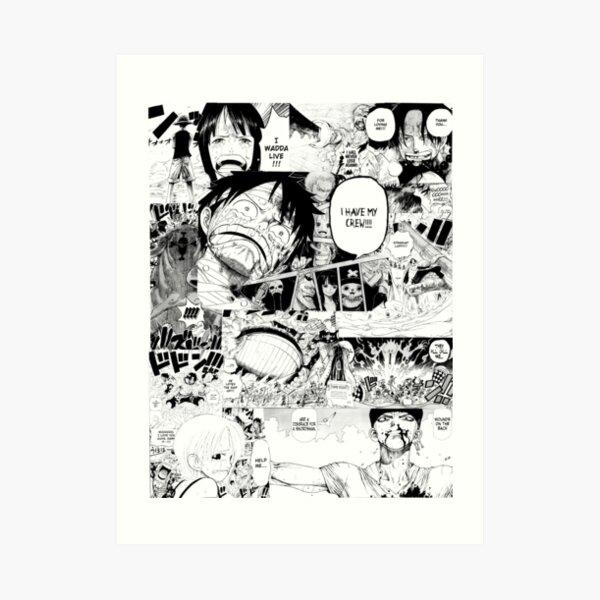 One Piece Manga Collage Impression artistique