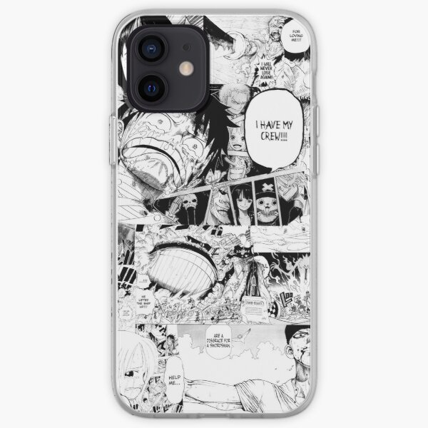 One Piece Manga Collage Coque souple iPhone