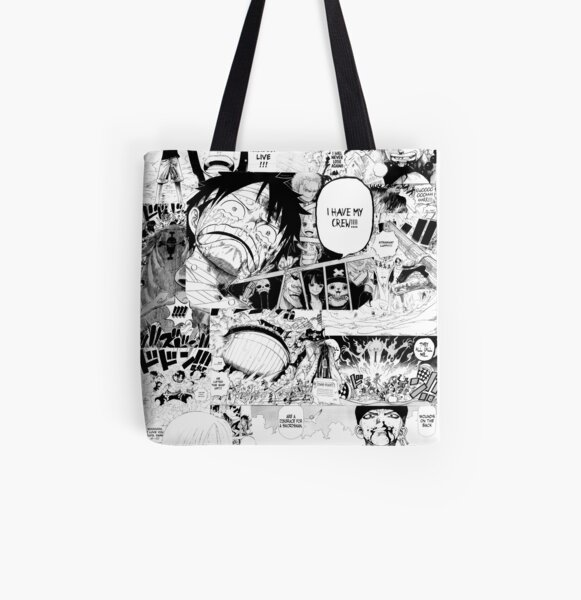 One Piece Manga Collage Tote bag doublé