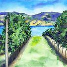 Between the Vines - Landscape Watercolour by Brazen Design Studio