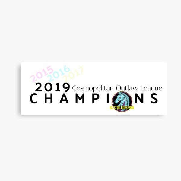 2019 COL Champions (Electric Horsemen) Canvas Print