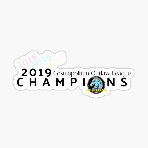 2019 COL Champions (Electric Horsemen) Sticker