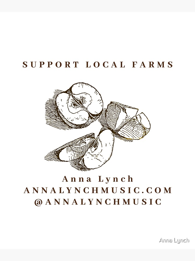 SUPPORT LOCAL FARMS- Tote- Anna Lynch by annamlynch44