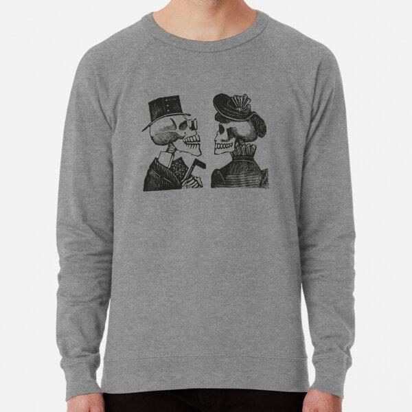 Calavera Couple | Skeleton Couple | Day of the Dead | Dia de los Muertos | Skulls and Skeletons | Vintage Skeletons | Lightweight Sweatshirt