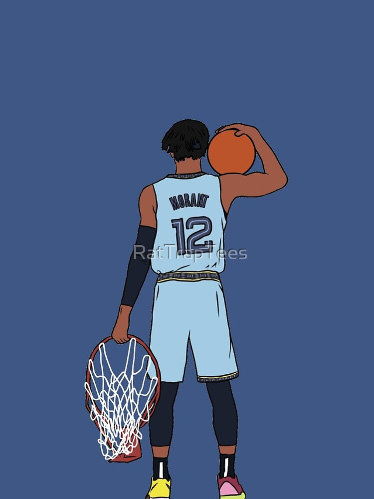 Ja Morant And The Rim by RatTrapTees