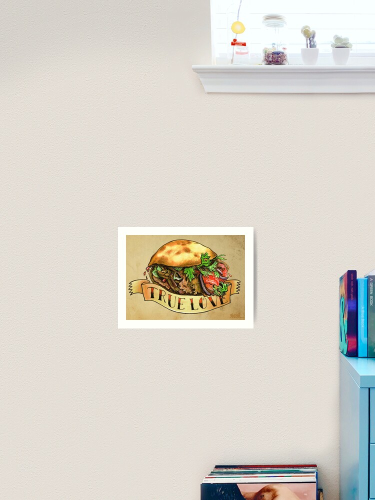 Keep Calm and Love Kebabs Medium Square Acrylic Coaster