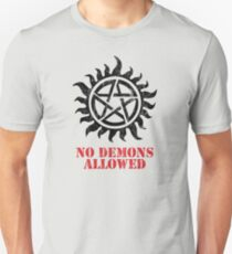 Supernatural No Demons Allowed [BLACK] Unisex T-Shirt