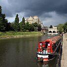 Canal Boat on Avon in Bath by GlennB