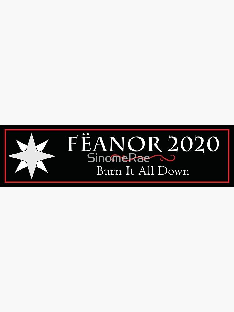 Feanor 2020 Campaign Bumper Sticker Feanorian Star by SinomeRae