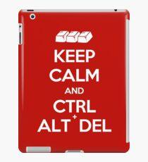 Keep Calm - Ctrl + Alt + Del iPad Case/Skin