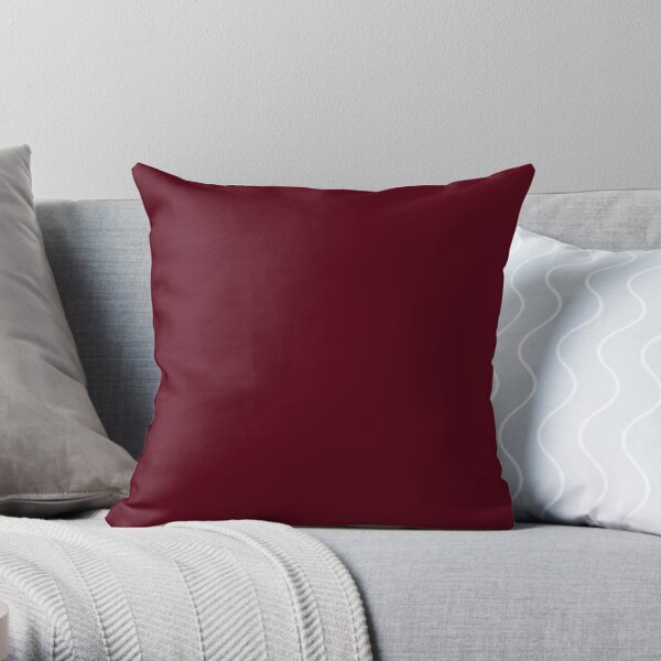 Dark Burgundy - Lowest Price On Site Throw Pillow