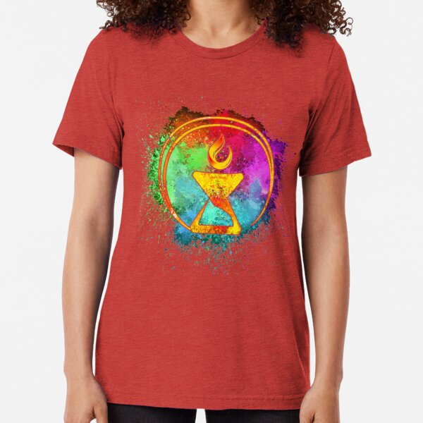 Cosmic Watercolor Chalice Tri-blend T-Shirt