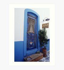 Amorgos Blues Art Print