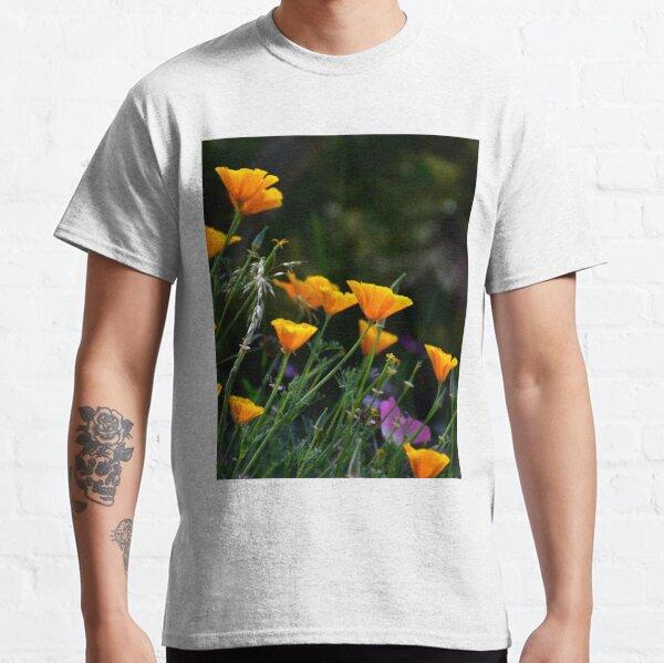 Californian Orange Poppy Meadow Photo Classic T-Shirt