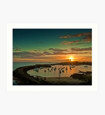 Wollongong Harbour Art Print