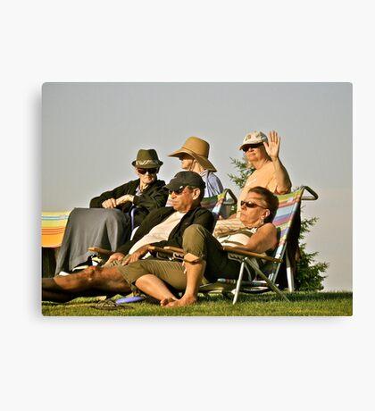 Summer Concert Goers - Enjoying a Summer Eve Canvas Print