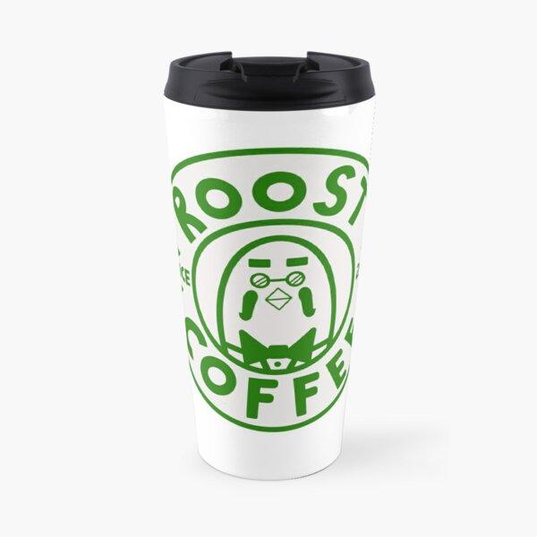 Animal crossing the roost coffee logo design green Travel Mug