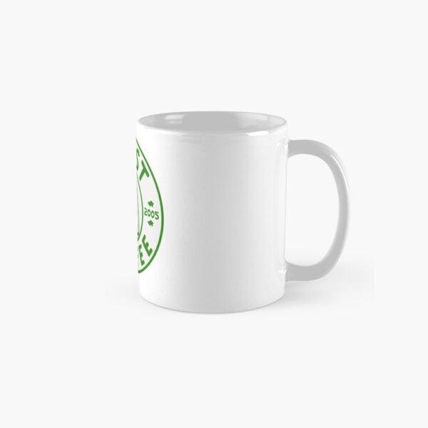 Animal traversant la conception de logo café roost vert Mug classique