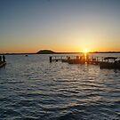 Sunset over the Lake by trishringe