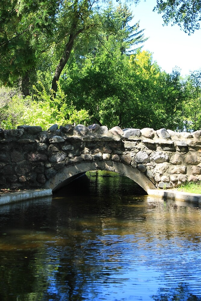 Stone Bridge Over a Pond by rhamm
