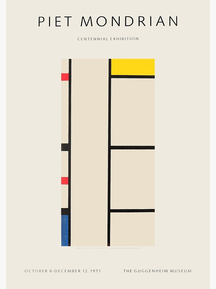 Piet Mondrian - Exhibition poster for the Guggenheim Museum, New York, 1971 by GOST2046