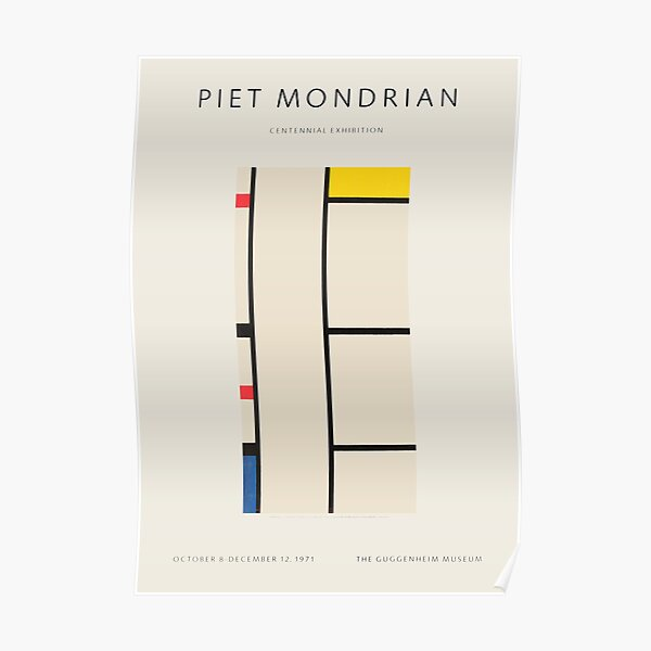 Piet Mondrian - Exhibition poster for the Guggenheim Museum, New York, 1971 Poster
