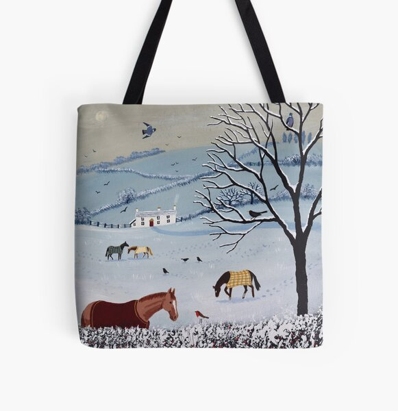 Over Snowy hedge All Over Print Tote Bag