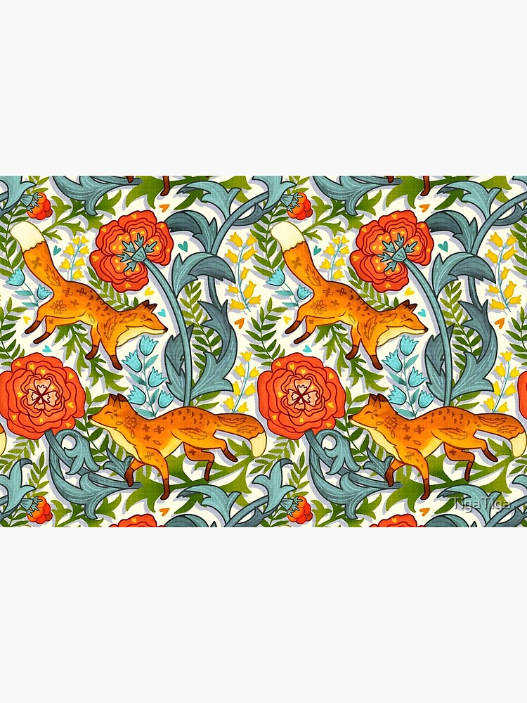 Art Nouveau Foxes  by TigaTiga