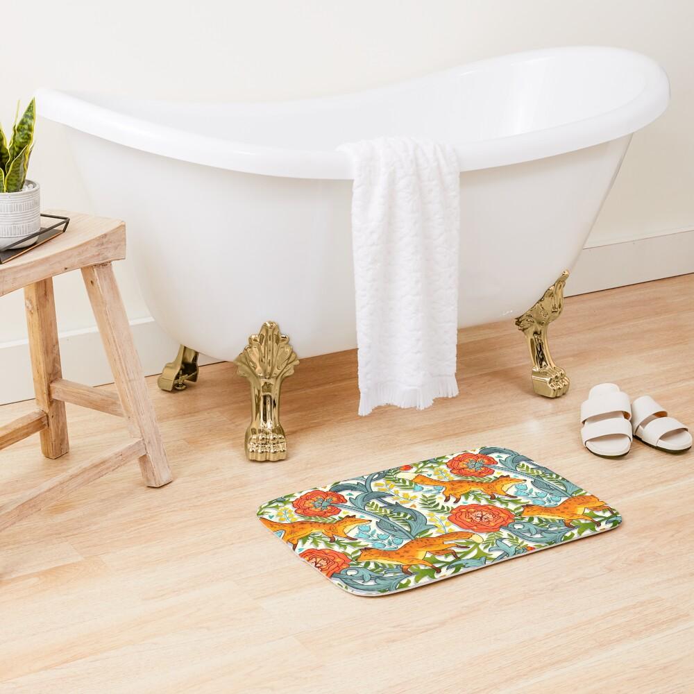 Art Nouveau Foxes  Bath Mat