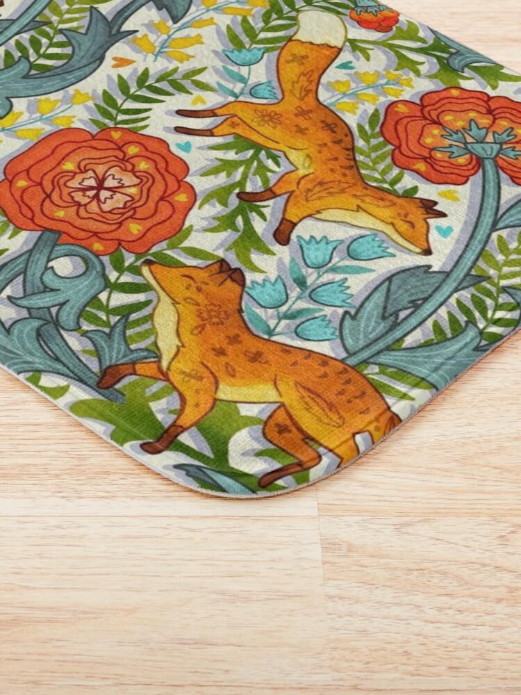 Alternate view of Art Nouveau Foxes  Bath Mat