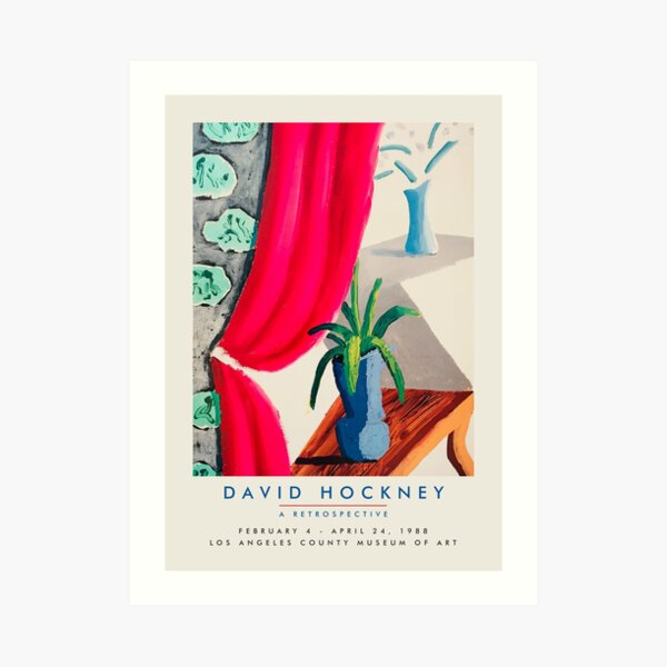 David Hockney - Exhibition poster for Los Angeles County Museum of Art, 1988 Art Print