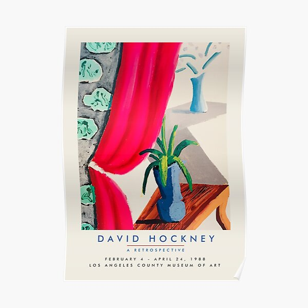 David Hockney - Exhibition poster for Los Angeles County Museum of Art, 1988 Poster