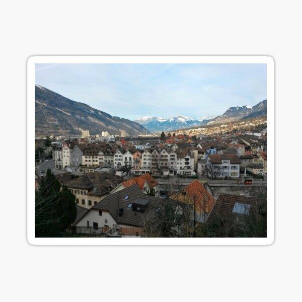 Chur old town Sticker