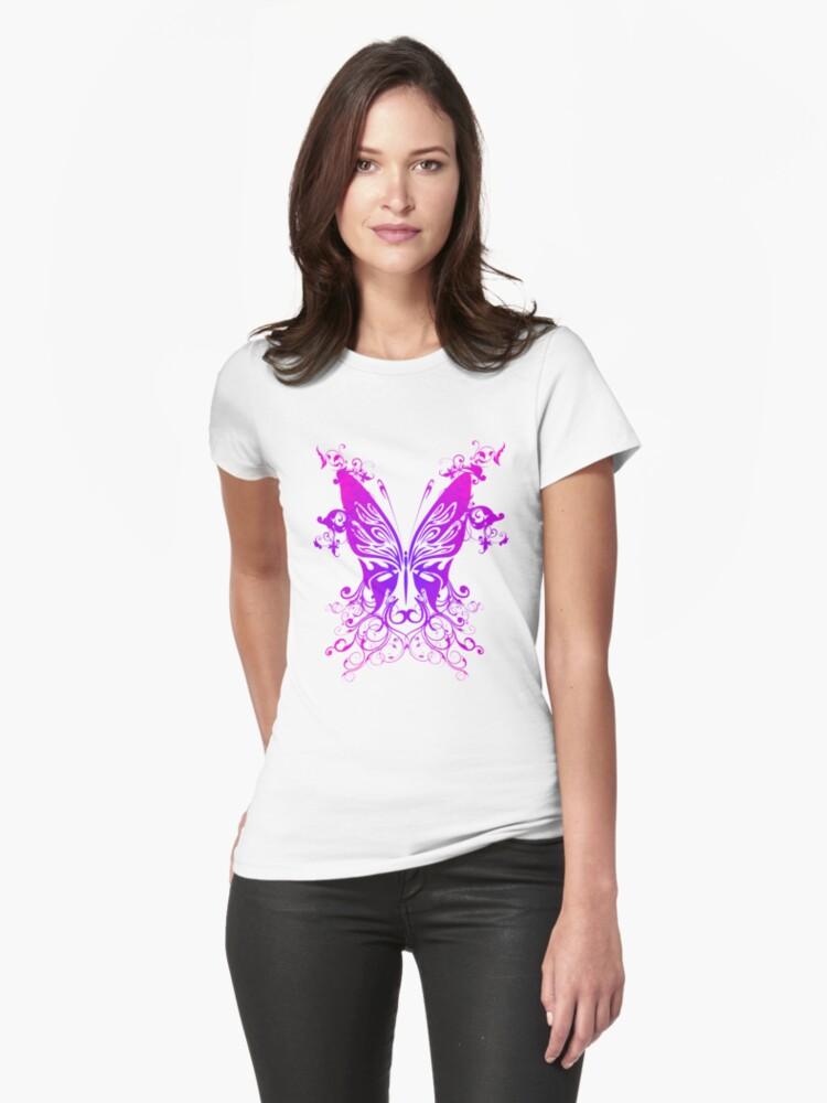 Purple N pink Butterfly by alondrahanley