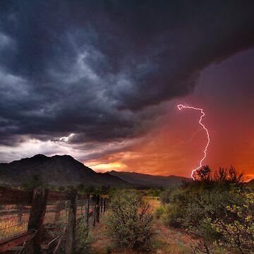 Sunset Strike by boblarsonphoto