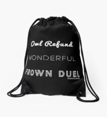 Wonderful Frown Duel Drawstring Bag