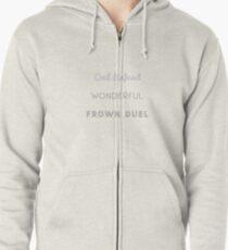 Wonderful Frown Duel Zipped Hoodie