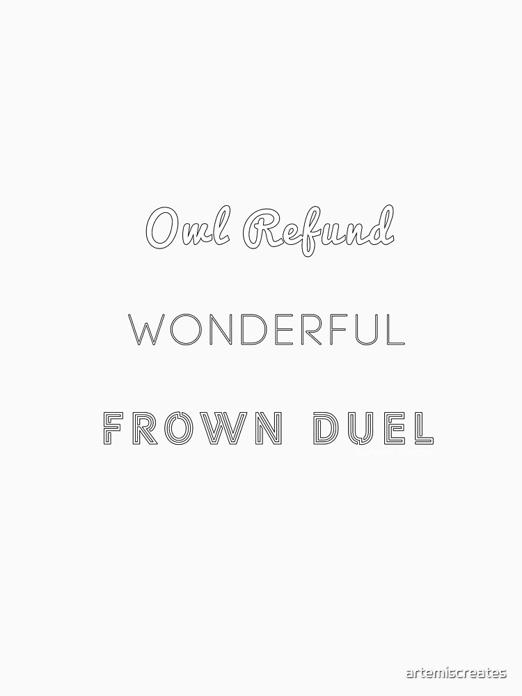 Wonderful Frown Duel by artemiscreates