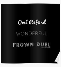Wonderful Frown Duel Poster
