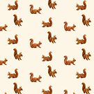 Squirrels on Cream by ThistleandFox
