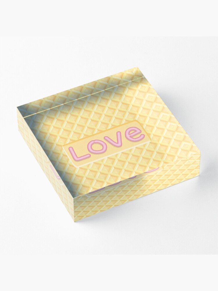 Alternate view of Wafer Cookie Love Acrylic Block
