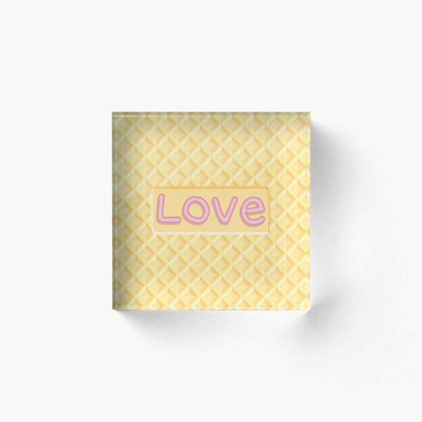 Wafer Cookie Love Acrylic Block