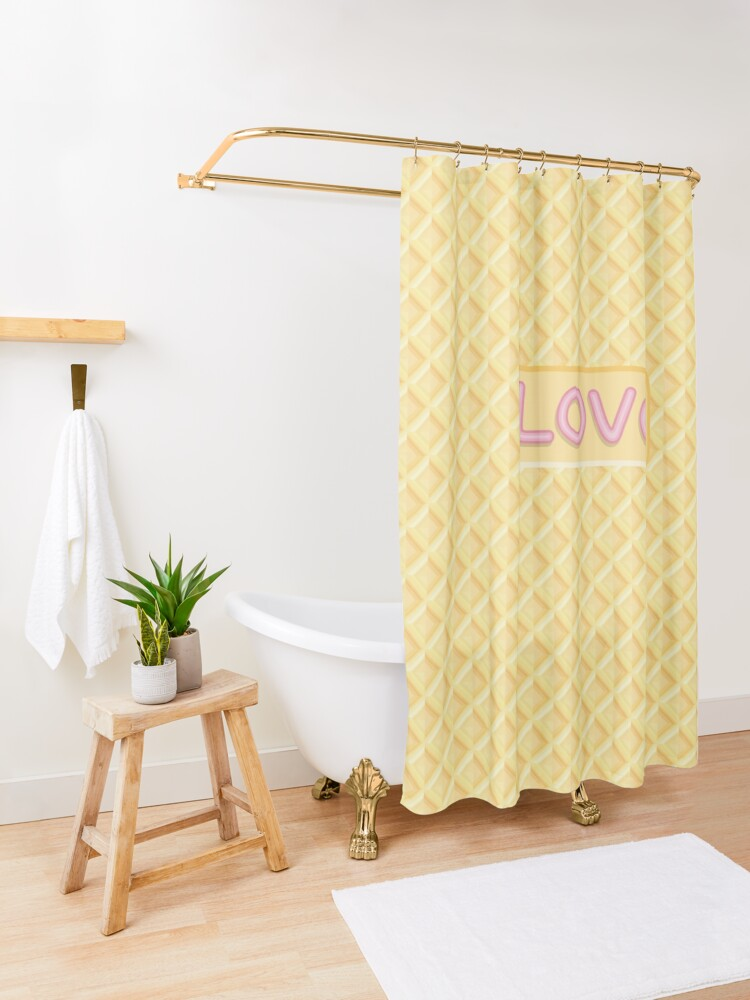Alternate view of Wafer Cookie Love Shower Curtain