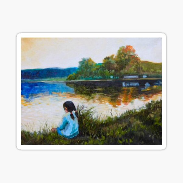 The Distant Shore by American Artist Hilary J England Sticker