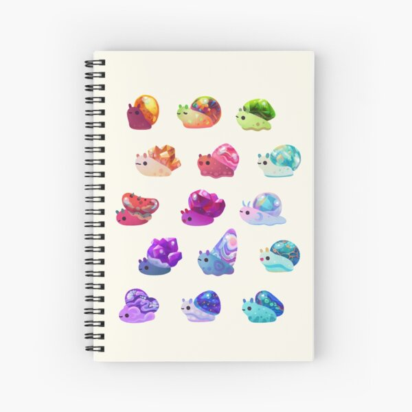 Jewel Snail - pastel Spiral Notebook