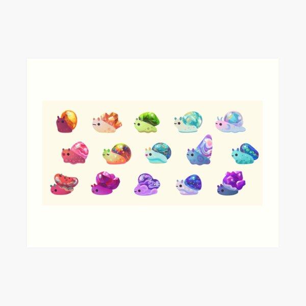 Jewel Snail - pastel Art Print